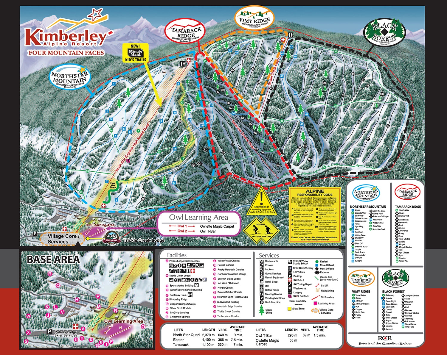 Kimberley Piste / Trail Map