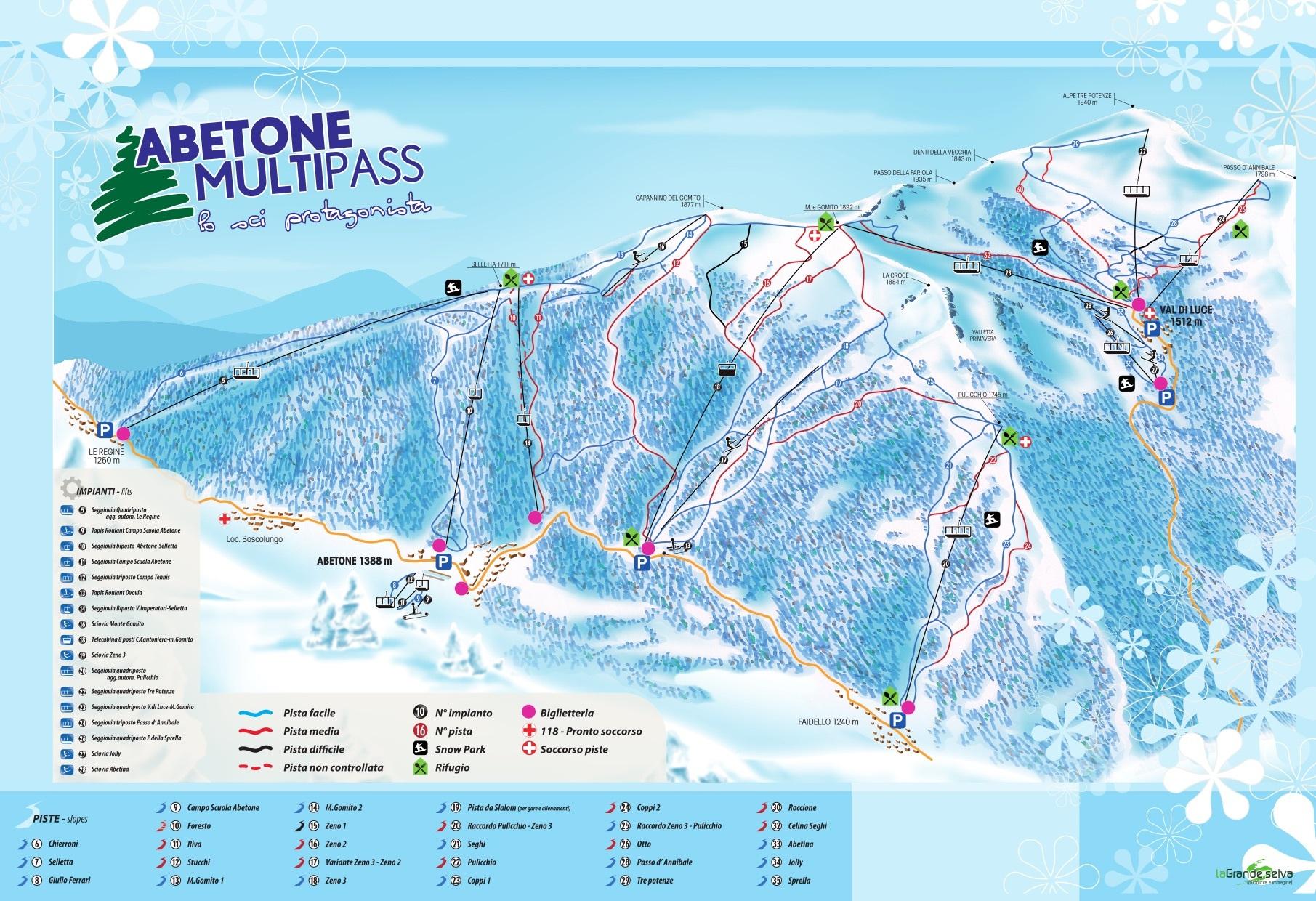 Abetone Skidortsguide Karta Boende I Abetone