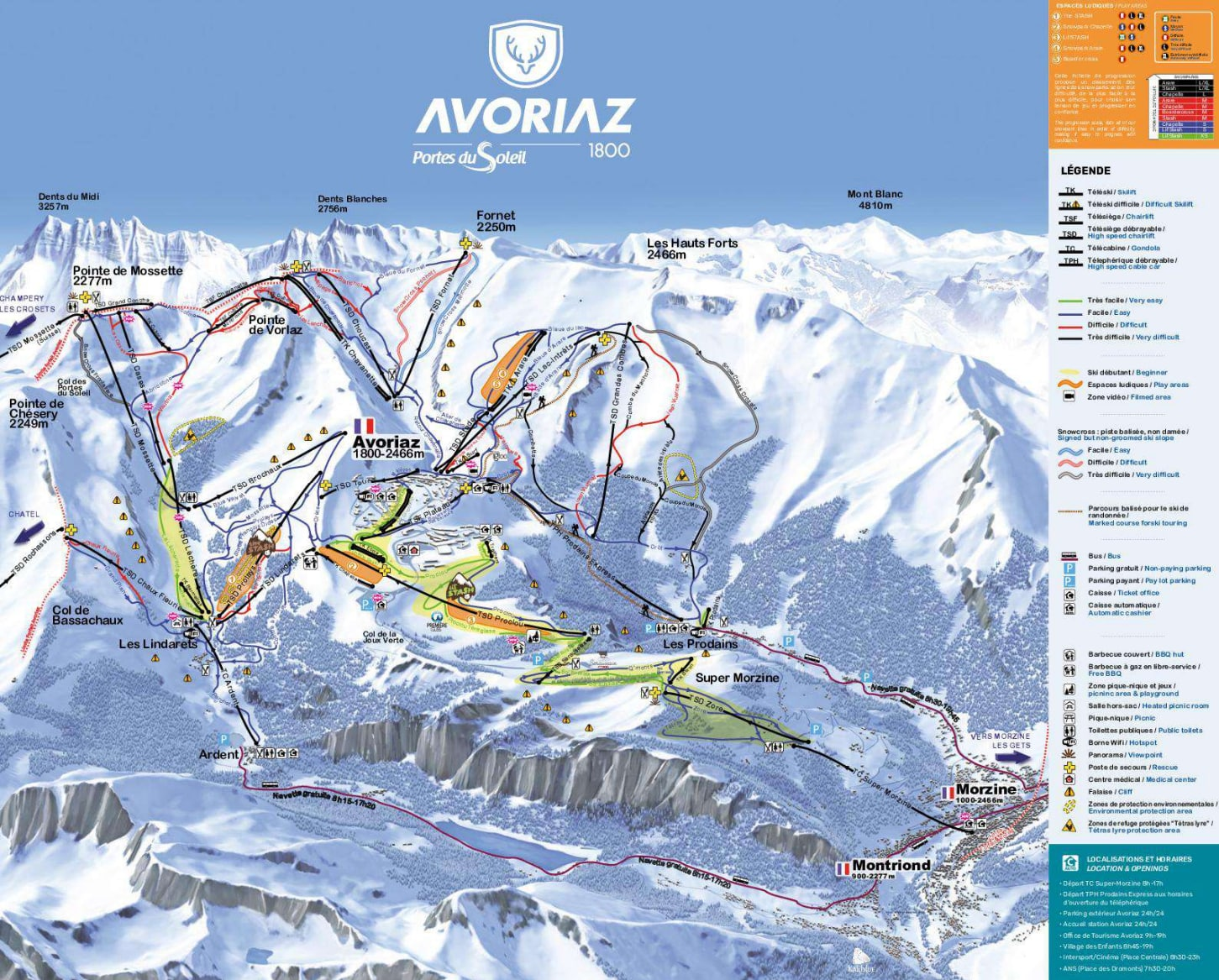 Avoriaz Piste / Trail Map