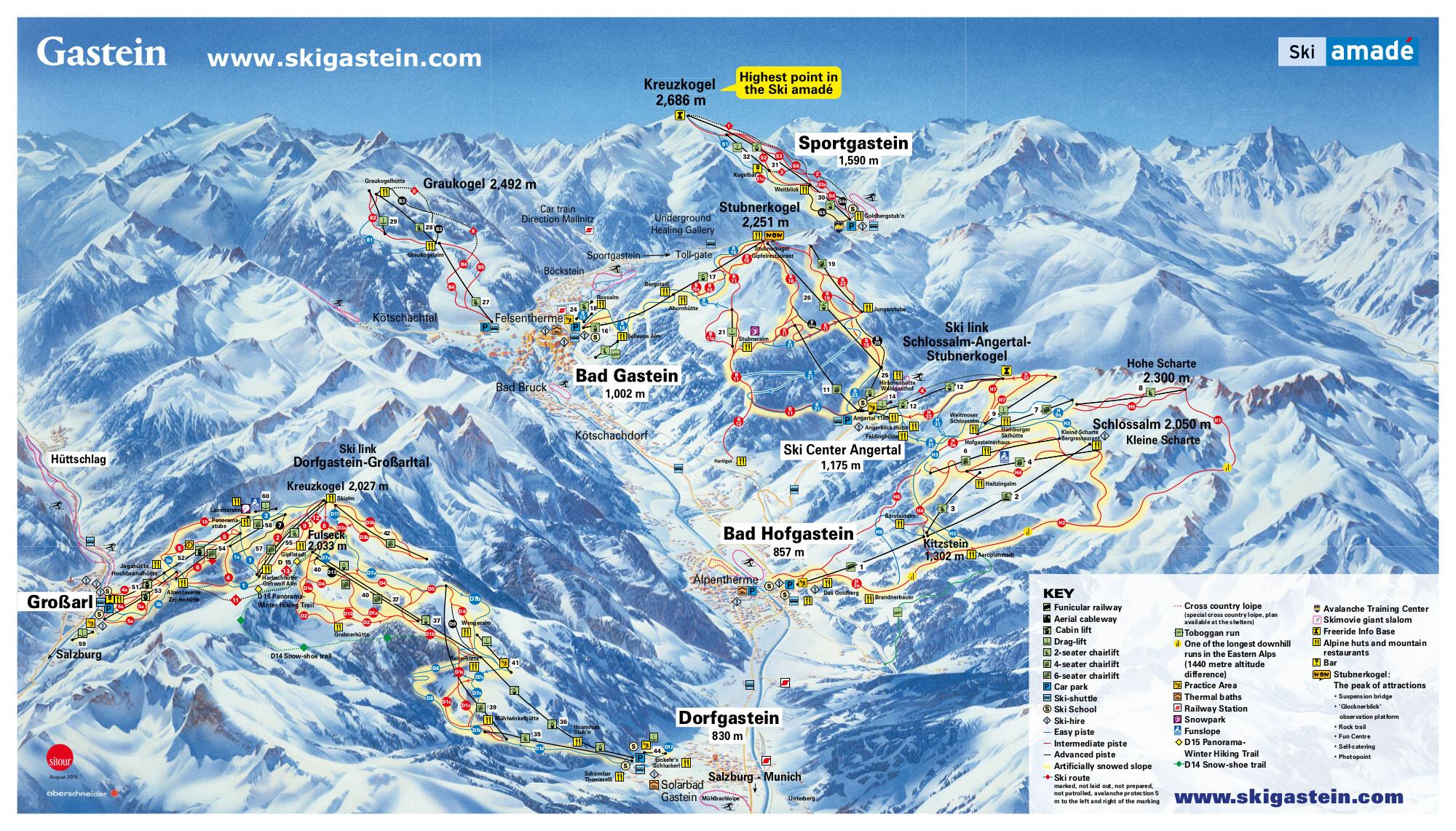Bad Gastein Skidortsguide Karta Boende I Bad Gastein
