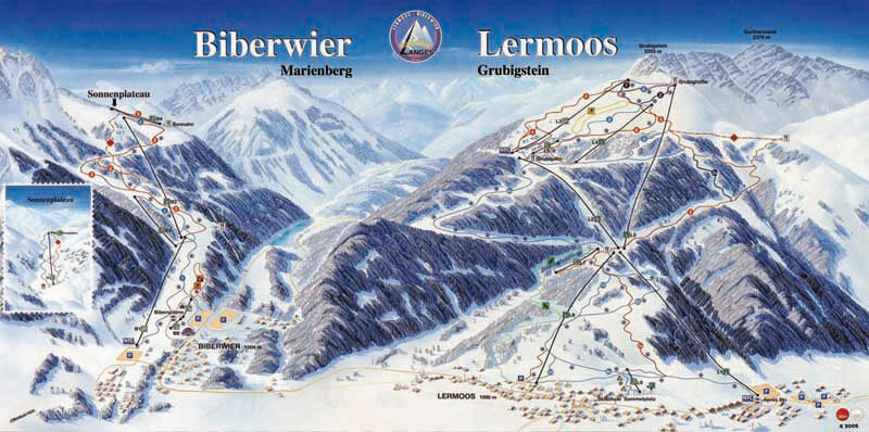 Biberwier Piste / Trail Map