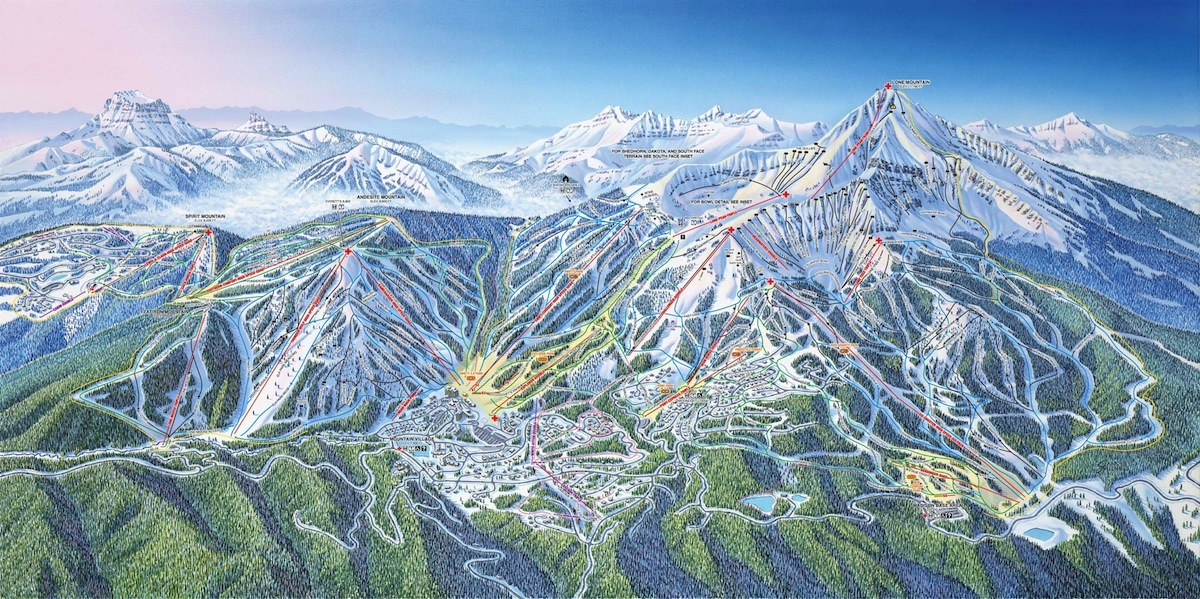 Big Sky Piste / Trail Map