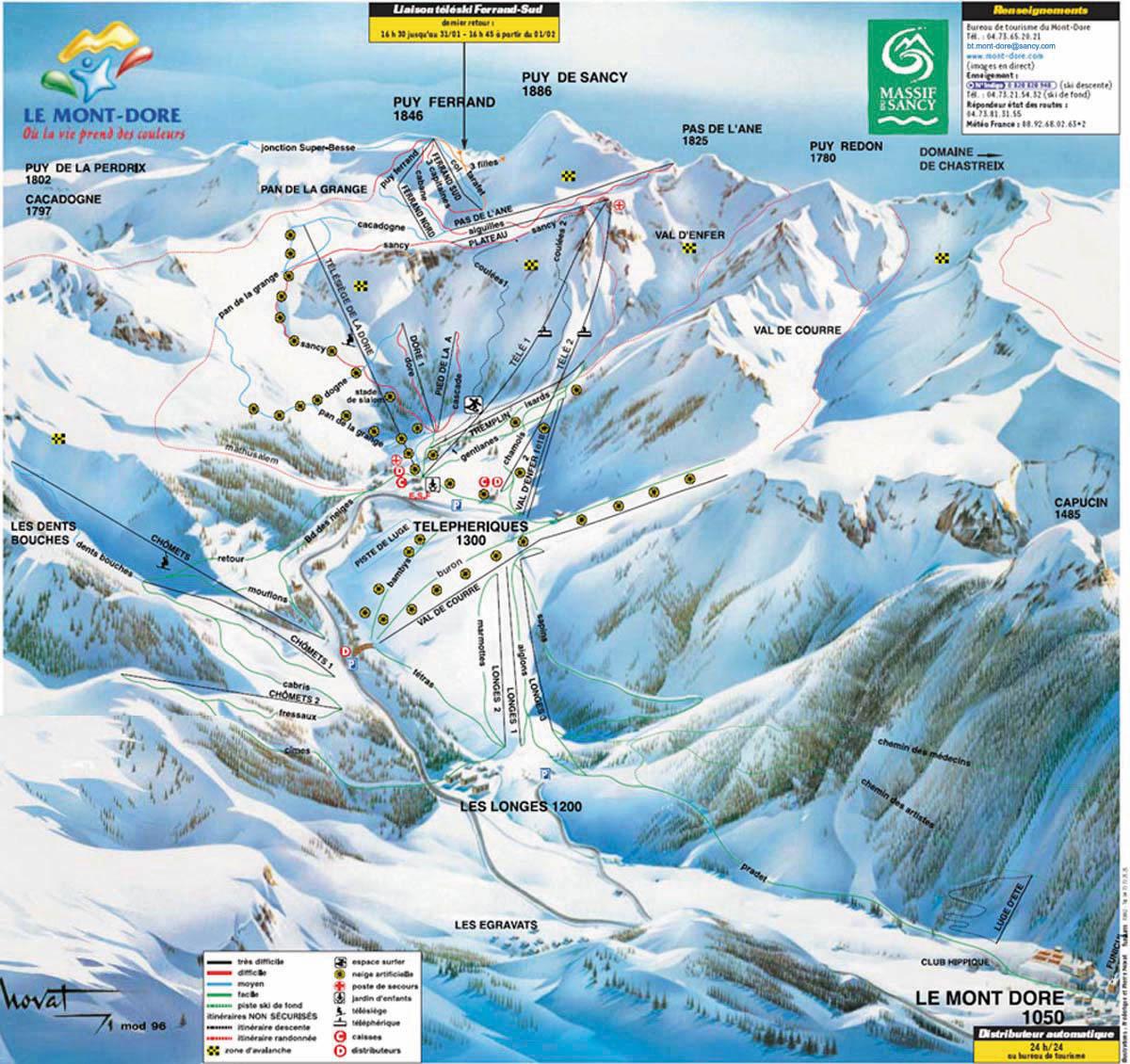 Le Mont Dore Skidortsguide Karta Boende I Le Mont Dore