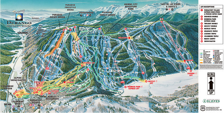 Purgatory Piste / Trail Map
