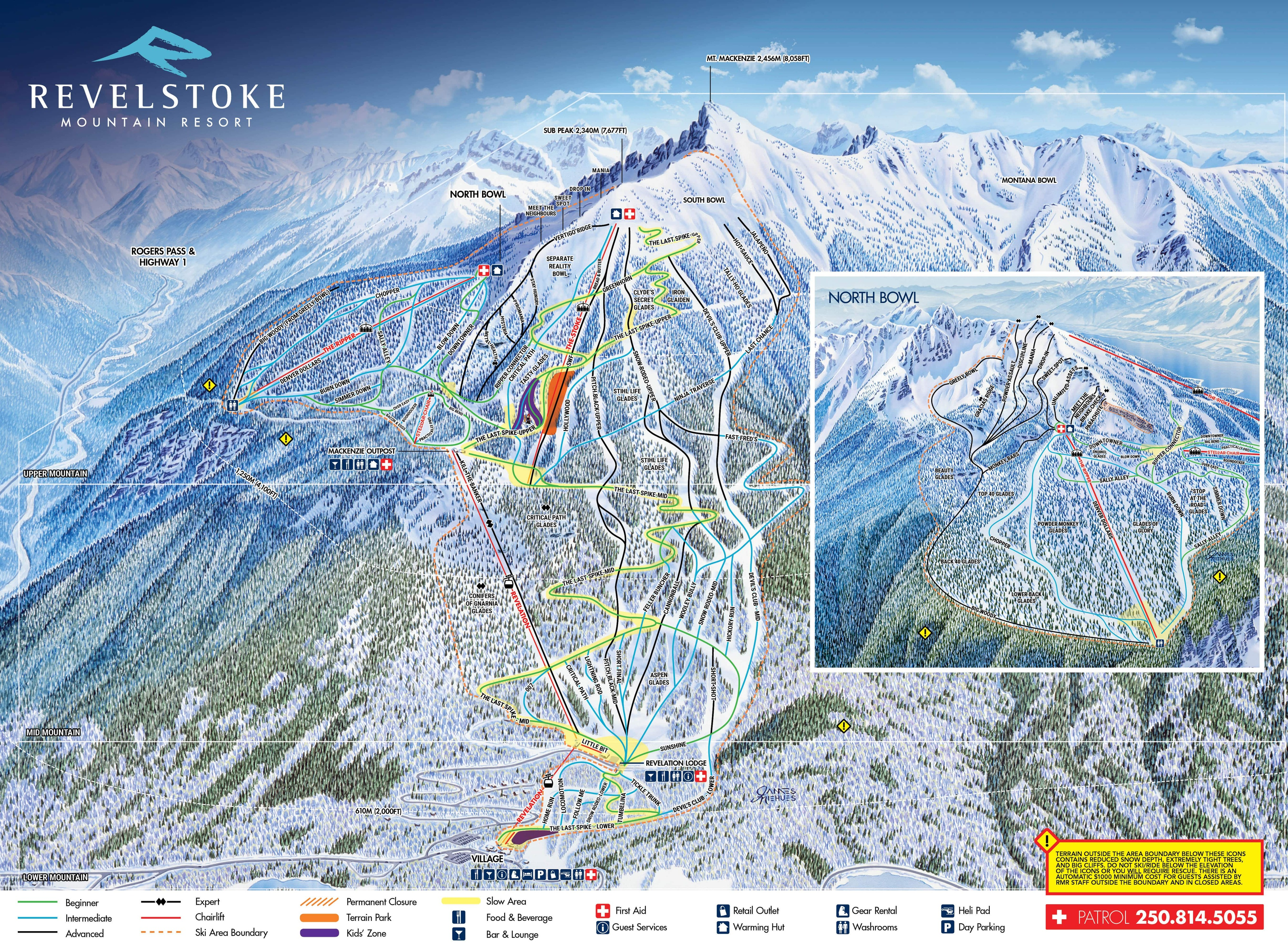 Revelstoke Mountain Resort Piste / Trail Map