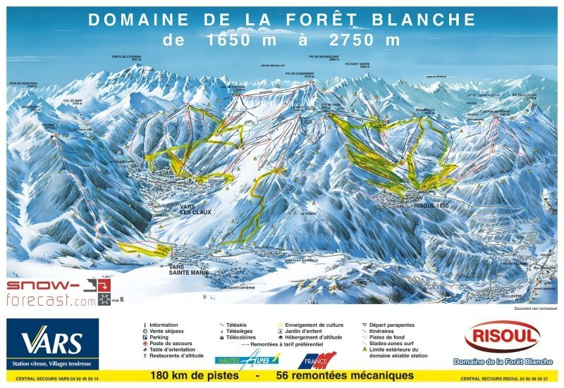 Risoul Piste / Trail Map
