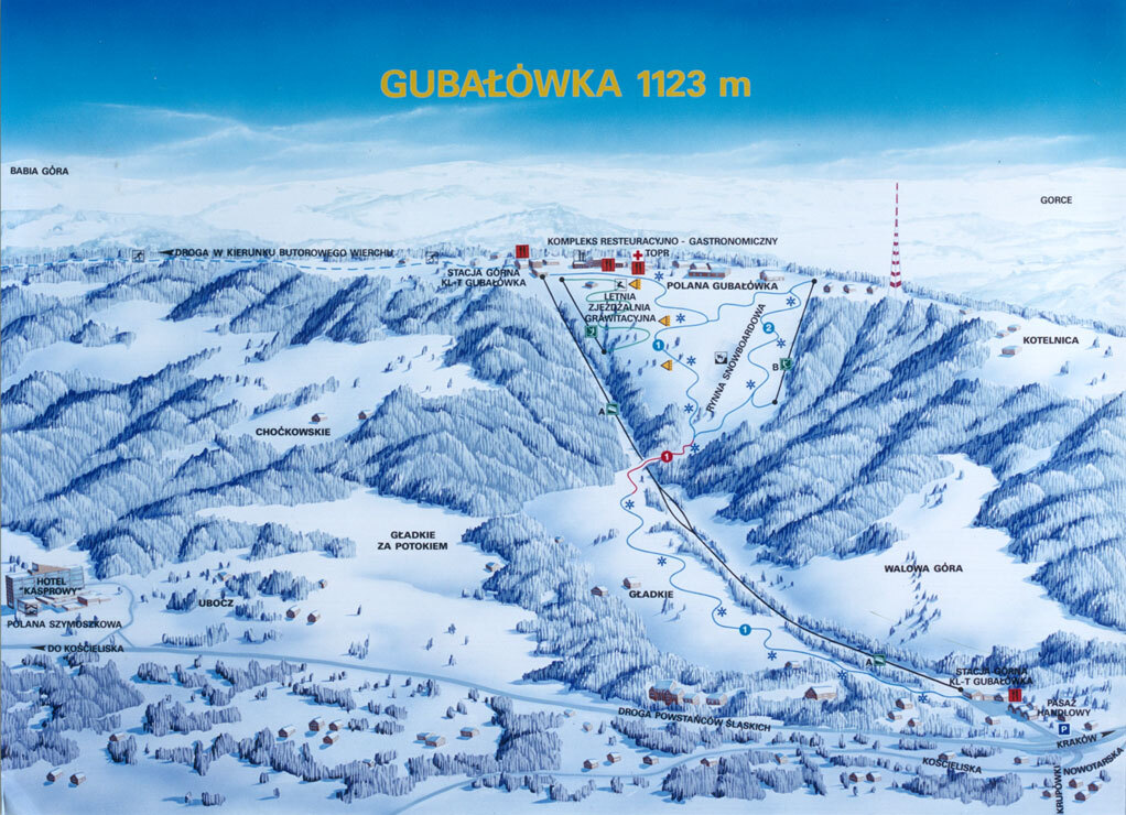 Zakopane Piste / Trail Map