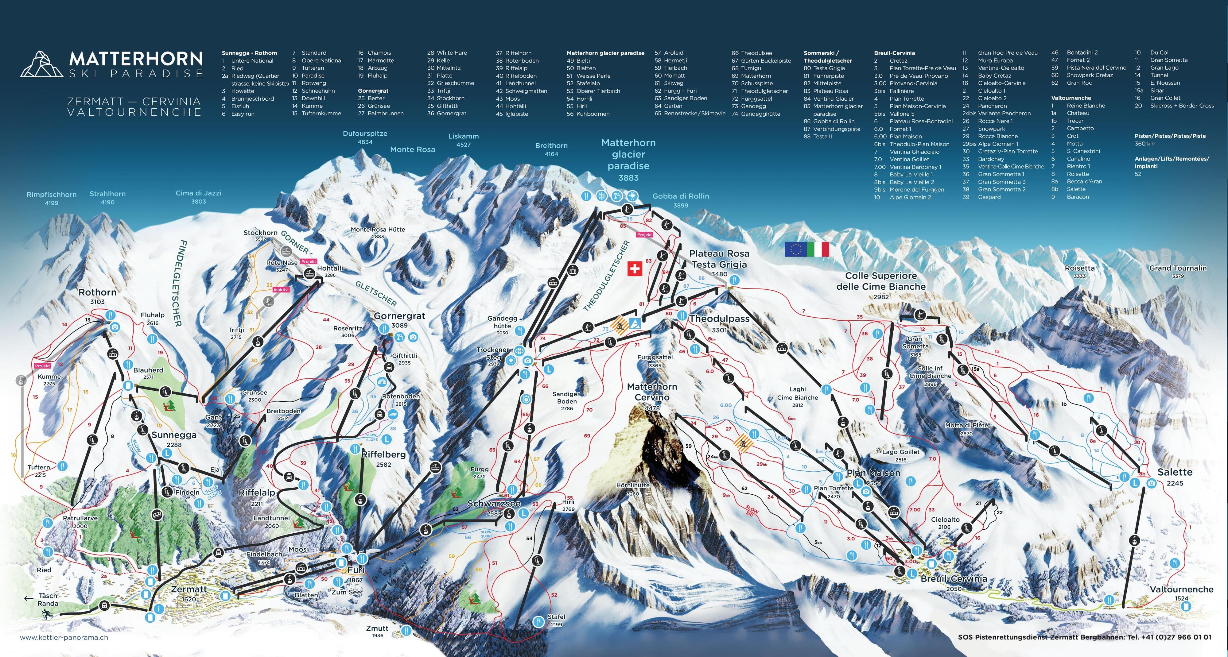 zermatt karta Zermatt skidortsguide, karta & boende i Zermatt zermatt karta